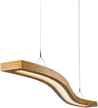 EYLM LED Pendelleuchte Holz Hängelleuchte 23W Hängellampe