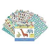MozArt Supplies Origami Papel para Papiroflexia - 120 Hojas de Origami para Crear Figuras Hermosas -...