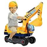 Acecoree Kinder Spielzeug Sitzbagger Caterpillar Bagger LKW Spielzeug mit Schaufel Arm Klaue
