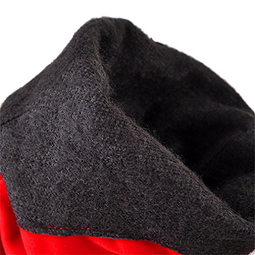 YE Damen Spitze Chunky High Heels mit Blockabsatz Kniehohe Stiefel Wildleder Reißverschluss 5cm Absatz Mode Elegant Langschaftstiefel Rot