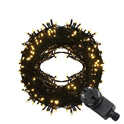 Kette Leuchte (Tersely LED Lichterkette Weihnachten Kette Leuchte auf Transparent Kabel 100m 1000er LED Lichter mit 9 Modi Innen und Außenbereich Lauflichter für Saal, Garten, Weihnachten, Hochzeit, Party)