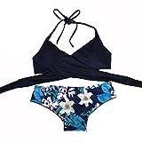 LILICAT Conjunto de Bikini para Mujer, Sexy Traje de Baño Push-Up & Sujetador Acolchado + Tanga Bikini Playa Mujer, 2 PCS Bikini Brasileño de Primavera Verano (XL, ?? Azul)