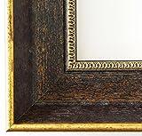 Spiegel Wandspiegel - Monza dkl. Braun Gold 6,7 - Über 14000 Größen im Angebot zur Auswahl - hier: 64 x 115 cm - Maßanfertigung