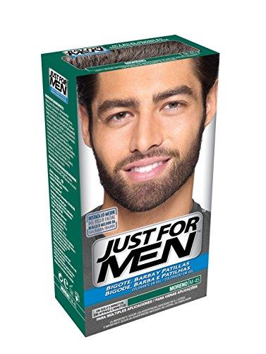 JUST FOR MEN Colorante en gel bigote barba y patillas - Tinte para las canas de la barba para hombres - castaño moreno - 15 ml
