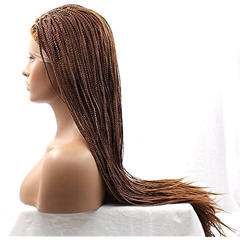 XUAN Coletas peluca sintética del cordón peluca delantera pelucas