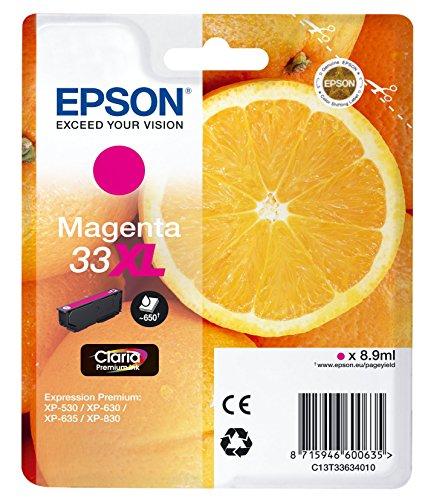 Epson T3363 Orange, Claria Premium Tinte, Text- und Hochglanzfotodruck XL (Singlepack) magenta