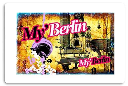 """""""My Berlin """" Fussmatte bedruckt Türmatte Innenmatte Schmutzmatte lustige Motivfussmatte"""