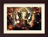 PPD Ganesh ji Ganpati Framed Painting wall painting for room decor painting.- (45 x 30 x 3 cms framed painting)…