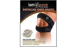 ionocore® rodillera abierta con correas. Soporte rotuliano de apoyo para correr, saltar, deportes al aire libre y alivio del dolor.
