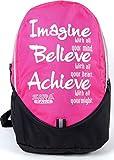 #10: SARA School Bag -Pink, Black