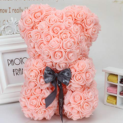ing Party Decoration,Valentine 's Day Artificial Rose Teddy Bear Gift Girlfriend Kid Flower Creative Gift Anniversary,Wedding, Birthday Love Bear Dolls Present Size 24CM (PK) ()
