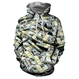 SANFASHION Pullover Liebhaber Herren Damen Herbst Winter 3D Print Langarm Hoodies Sweatshirt Top Streetwear
