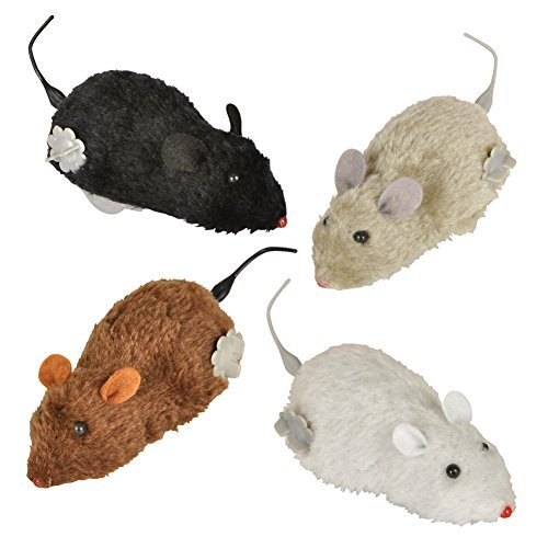 wind-up-racing-4-mice-realistic-looking-mice-carefree-pet-set-of-4-toy-mice-black-gray-white-and-bro