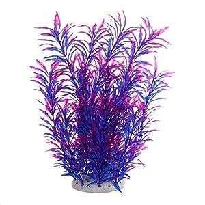 Large Aquarium Plants Artificial Plastic Fish Tank Plants Decoration Ornament Safe for All Fish 12.5(32cm) inch Tall 4…