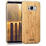 kalibri-Holz-Case-Hlle-fr-Samsung-Galaxy-S8-Handy-Cover-Schutzhlle-aus-Echt-Holz-und-Kunststoff-aus-Bambusholz-in-Hellbraun