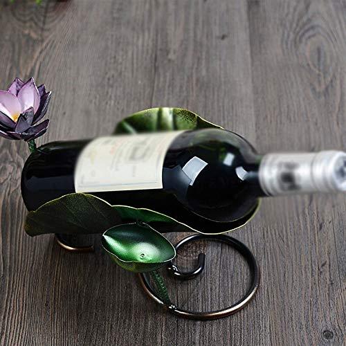 BinLZ Weinregale Kreative Einzigartige Eisen Retro Lotus Form Mode Wein Kabinett Dekoration, um Jeden Raum zu Erfüllen -