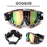 AUDEW Viso Occhiali da sole di protezione maschera Occhialoni moto per attività esterna Motocicletta / Cross / ATV / Sci / Motociclo / Bicicletta Google Anti-UV Antinebbia P932 len colorato