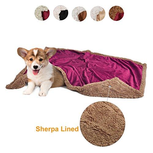 Pawsse Hundedecken Waschbar Hundematte Dickes Sherpa-Fleece Luxuriöses Ultra-Soft für kleine...