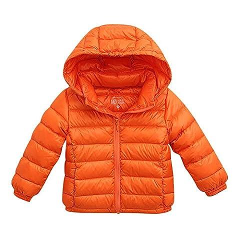 marc janie Baby Toddler Boys Girls' Light Down Filled Hoodie Jacket Coat 12 Months Orange