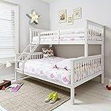 Triple cama en color blanco, Hanna, cama litera para niños de Noa & Nani