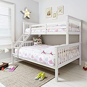 White Wooden Double Bunk Bed Happy Beds Malvern White