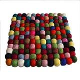 Maharanis Filz Untersetzer Topfuntersetzer bunt 22x22 cm handgefertigt reine Wolle
