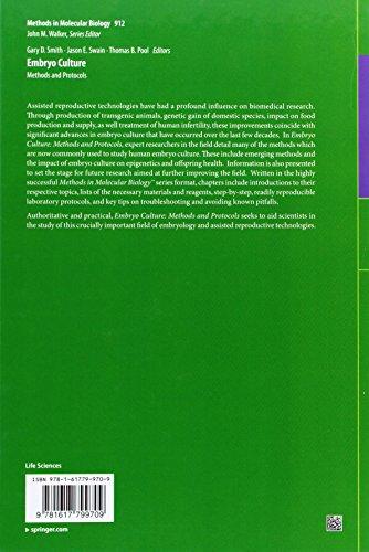 Embryo Culture: Methods and Protocols (Methods in Molecular Biology)