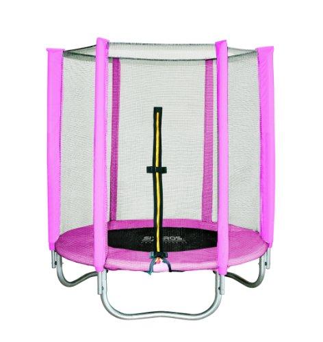 SixBros. SixJump 1,40 M Gartentrampolin Pink Trampolin Mit Sicherheitsnetz - T140/1534