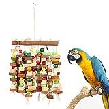 TOOGOO Jouet à Macher Oiseau Grand Jouets de Morsure de Cage de Perroquet Moyen Aras Gris D'Afrique Cacatoes Eclectus