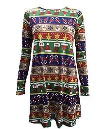Lush Clothing Women's Long Sleeve Christmas Dress Uk 8-10 Xmas Wrapping