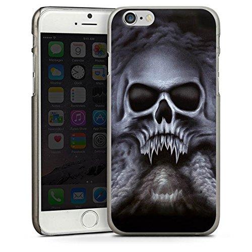 Apple iPhone 5 Housse étui coque protection Tête de mort Crâne Crâne CasDur anthracite clair