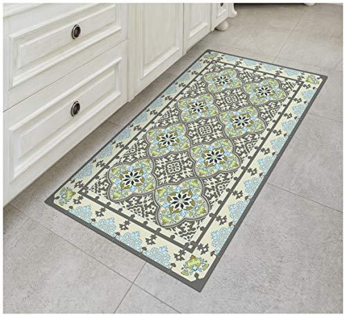 The Nisha Floor Mat Alfombra Para Cocina De Vinilo Tapete Decorativo De Linoleo Pvc Piso De Baldosas Colorida Duradera Antideslizante Lavable A