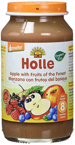 Holle Potito de Frutas del Bosque y Manzana (+8 meses) - Paquete de 6 x 220 gr - Total: 1320 gr