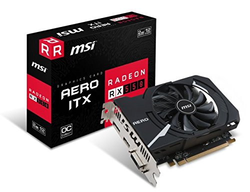 MSI-Radeon-RX-550-Aero-ITX-OC-2GB-AMD-GDDR5-1x-HDMI-1x-DP-1x-DL-DVI-D-2-Slot-Mini-PC-Afterburner-OC-AMD-FreeSync-Grafikkarte