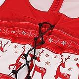KPILP Midi Swing Dress Damen Übergröße Weihnachten Sleeveless Elegant Deer Vintage Xmas Party Porm Prinzessin Kleid?Rot,EU-38/CN-M? für KPILP Midi Swing Dress Damen Übergröße Weihnachten Sleeveless Elegant Deer Vintage Xmas Party Porm Prinzessin Kleid?Rot,EU-38/CN-M?