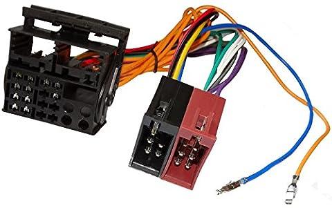 AERZETIX: Adaptateur faisceau câble fiche ISO pour autoradio d'origine pour