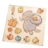ECMQS Cat Fish DIY Transparente Briefmarke, Silikon Stempel Set, Clear Stamps, Schneiden Schablonen, Bastelei Scrapbooking-Werkzeug