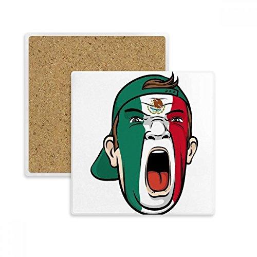 aggen-Gesichtsverfassung Maske Schreien Cap-Platz Coaster-Schalen-Becher-Halter Absorbent Stein für Getränke 2ST Geschenk Mehrfarbig ()