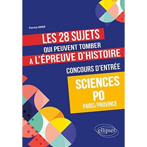 Les 28 sujets qui peuvent tomber à l'épreuve d'Histoire du concours d'entrée à Sciences Po