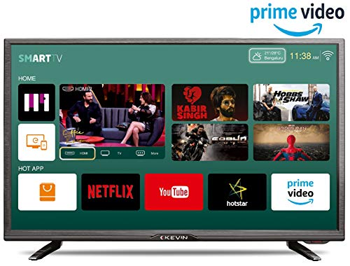 Kevin 80 cm (32 Inches) HD Ready LED Smart TV K32CV338H (Black) (2019 Model)