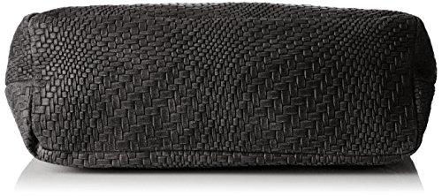 Chicca Borse Damen 80059 Umhängetasche, 38x28x10 Cm Schwarz (nero)