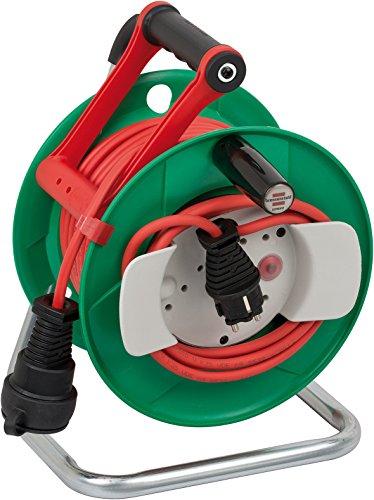 garten kabel Brennenstuhl Garant G IP44 Gartenkabeltrommel (25m - Spezialkunststoff, kurzfristiger Einsatz im Außenbereich, Made In Germany) grün