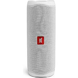 JBL Flip 5 Enceinte Bluetooth Portable avec Batterie Rechargeable, Étanche, Compatible Siri et Google, Blanc