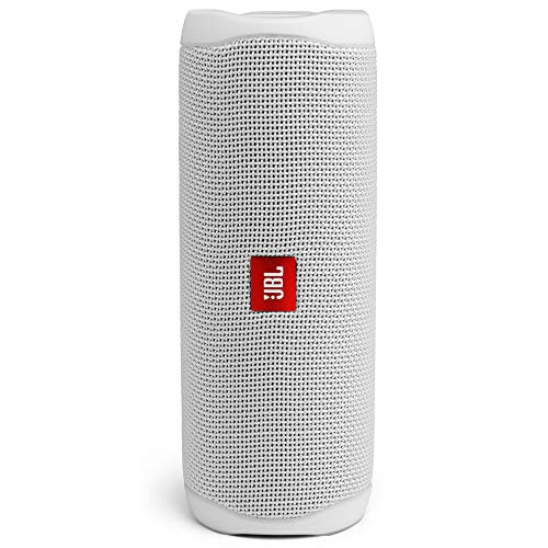 JBL Flip 5 Portable Bluetooth Speaker with Rechargeable Battery, Waterproof, PartyBoost Compatible, Steel White