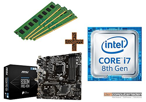 PC Aufrüstkit Intel, i7-8700 6x3.2 GHz, 32GB DDR4, Intel UHD Grafik 630-1GB, Mainboard Bundle, Tuning Kit, fertig montiert, Spiele Office zusammengestellt in Deutschland Desktop Rechner