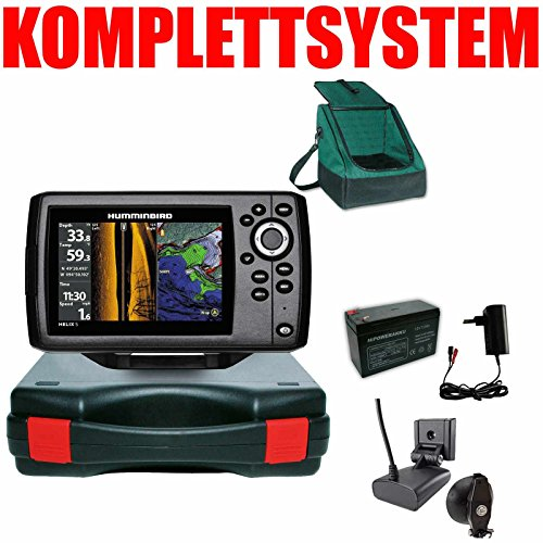 Humminbird Echolot GPS Portabel Basic Plus- Helix 5 Chirp GPS SI G2 Side Imaging Side Imaging Sonar