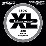D'Addario CB040 Chromes Bass Guitar Single String, Long Scale .040