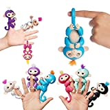 Finger Monkey Toy Fully Interactive Baby Pet Monkeys Toys Assorted Toys Puppets - Respond to Touch and Sound With Movement - By Guilty Gadgets