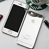 AccWorld Front & Back 9H Hardness Coloured Tempered Glass Screen Protector for Apple Iphone 5 / 5S (Silver)