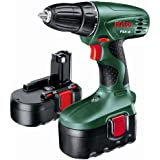 Bosch PSR 18 Cordless NiCad Drill Driver with 2 x 18V Batteries, 1.2 Ah